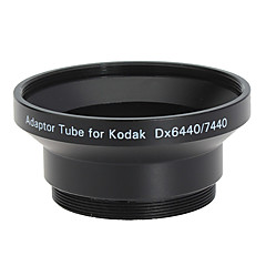 52mm linse og Filter Adapter Tube for Kodak DX6440/DX7440 Svart