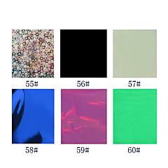 1pcs laser folie nageldecoratie sterrenhemel nagel stickers no.55-60 (130x4.5x0.1cm, diverse kleuren)
