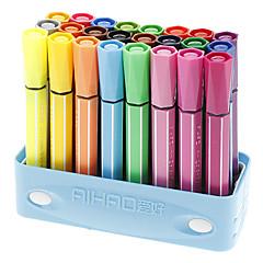 24 Colors Fat Head Water Color Pens Set (Random Color)