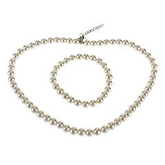 Pearl Bracelet Necklace Set