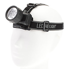 1-Mode 12-LED hodelykt (2xAA, Black)