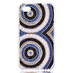 Zircon Owl Eyes Pattern Hard Case for iPhone4/4S