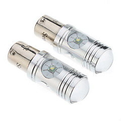 1156 12W White Light Cree LED pære til bil Bremse / baklygte (DC 12-24V, 1-Pair)