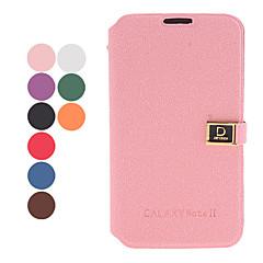 Magnet Pocket-Stil PU-Leder Schutzhülle mit Standfuß und Card Slot für Samsung Galaxy Note N7100 2 (Farbe sortiert)