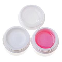 3PCS Multi-function UV Gel (14ml,1 White Gel+1 Pink Gel+1 Transparent Gel)