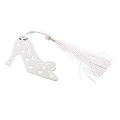 High-Heeled Shoes Shape Tassels Alloy Bookmark