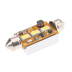 Festone 42 millimetri 1W 3x5730SMD Naturale lampadina di bianco LED per la lampada di lettura auto (12V)