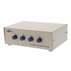 4 port manuel rs-232 aksjer switch for pc til seriel enhed