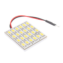 T10/BA9S/Festoon 5W 24x5730SMD Natural White Light LED Bulb for Car Reading Lamp (12V)