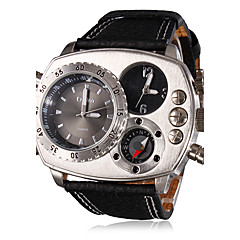 OULM® Men's Watch Military Compass Dual Times Zones Cool Watch Unique Watch Fashion Watch