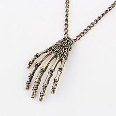 Dames Hangertjes ketting Vintage Kettingen Verklaring Kettingen Legering Doodshoofdvorm Modieus verklaring Jewelry Sieraden Dagelijks1
