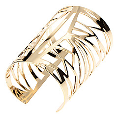 Shixin® Gold Tone Elegant Hollow Bangle Bracelets