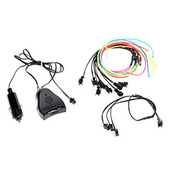 6 Meter Flexible Car Decorative Neon Light 2.3mm EL Wire Rope with Sound Activated