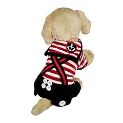 colorido patrón de rayas traje de marinero con correas para perros (de varios colores: XS-XL)