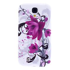 Lilla blomst mønster Blød TPU Taske til Samsung Galaxy S4 I9500