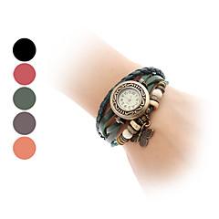 Women's Watch Bohemian Butterfly Pendent Multilayered Leather Bracelet