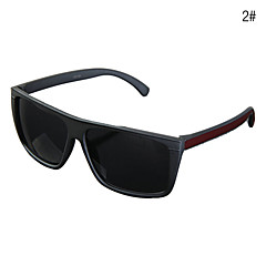 Männer UV400 Plastic Rectangle Full Frame Sunglasses