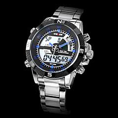 WEIDE Herre Sportsur Armbåndsur Quartz Japansk Quartz LCD Kalender Kronograf Vandafvisende Dobbelte Tidszoner alarm Rustfrit stål Bånd