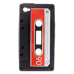 Trajni Tape Style Silica Gel torbica za iPhone 4/4S (crna)