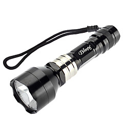 Brinyte B78 Single-Mode Cree XP-G R5 Green Light LED Taskulamppu (240LM, 1x18650, musta)