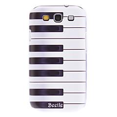 Matte Style Piano Key mønster Holdbar hårdt tilfældet for Samsung Galaxy S3 i9300