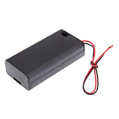 """6 """"와이어와 2XAA 2A 셀 배터리를위한 플라스틱 저장 상자 상자 홀더 오퍼"""