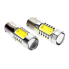 BAU15S 7W 330-380LM 6000-6500K Luz del coche Luz blanca 5-LED de dirección / frenos (DC 12-24V, 1 par)