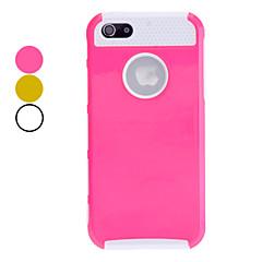 conchas dupla design branco TPU caso de escudo duro do interior para o iPhone 5/5s (cores sortidas)