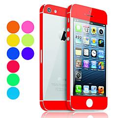 Kolorowa Folia Ochronna na Ekran i Tył dla iPhona 5 (Różne Kolory)