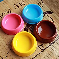 forma de círculo de plástico pet plato de comida para perros y gatos (variedad de colores, tamaños)