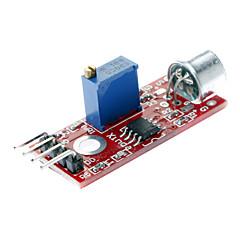 di alta qualità (per arduino) Modulo sensore di rilevamento audio del microfono - rosso + blu