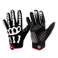 moda Spakct nylon transpirable diseñado la cinta de fijación en forma de dedo completo guantes-esqueleto