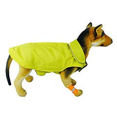 Gatos / Perros Abrigos / Chaleco Rojo / Negro / Azul Ropa para Perro Invierno / Primavera/Otoño Un Color A Prueba de Agua
