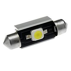 39 milímetros 2W 1x7060SMD 90-110LM 6000-6500K luz branca da lâmpada LED de carro (DC 12-18V)