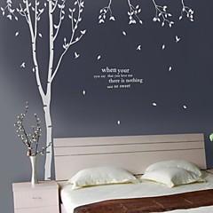 애니멀 보태니컬 벽 스티커 플레인 월스티커 데코레이티브 월 스티커,비닐 자료 이동가능 물 세탁 가능 홈 장식 벽 데칼