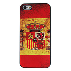 Flag of Spain Pattern Aluminum Hard Case for iPhone 5/5S