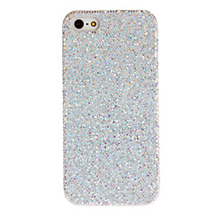 Silver Shimmering Powder Designed PC Hard Case for iPhone 5/5S