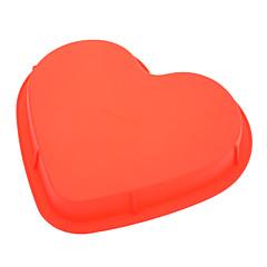 słodki formy silikonowe w kształcie serca ciasto do pizzy (losowy kolor)