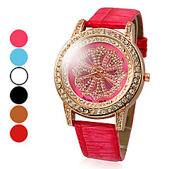 Women's Diamond Dial PU Analog Quartz Fashionable Wrist Watch (Assorted Colors) Cool Watches Unique Watches