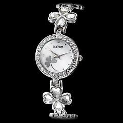女性のダイヤモンドケース花のスタイル合金アナログクオーツブレスレットウォッチ(アソートカラー)