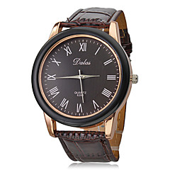 Unisex PU Analog Quartz Wrist Watch (Brown Band)