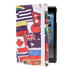 Multiple National Flags Pattern PU Leather Full Body Case with Stand for iPad mini