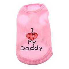I Love My Daddy Cool Vest for kæledyr Hunde (assorterede størrelser)
