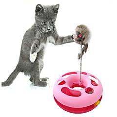 재미 코일 스프링 마우스 스타일의 고양이 장난감 (무작위 색깔)
