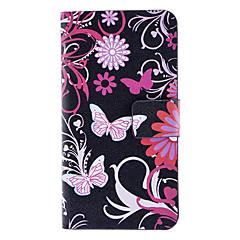 Papillons et Chrysanthemum cas de modèle complet du corps avec fente pour carte et Built-in Matte couverture arrière de PC pour l'iPhone 4/4S