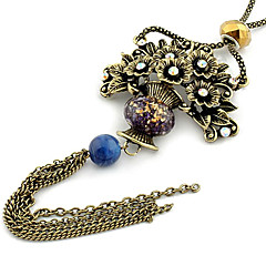 Jewelry Pendant Necklaces / Vintage Necklaces Daily Agate / Rhinestone Women Red Wedding Gifts