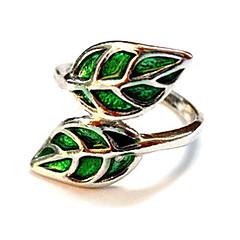 anel em forma de folha das mulheres