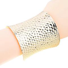 European Style Gold Plated Fish Scale Shape Bangle Cuff Bracelet