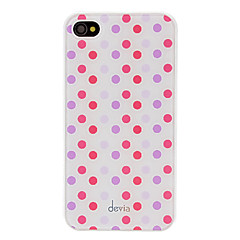Avvik Concise Red and Purple Round Dots Pattern Smooth Surface PC vanskelig sak for iPhone 4/4S