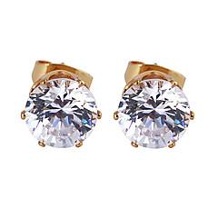 Gold plated bronze zircon stud Earrings ERZ0270